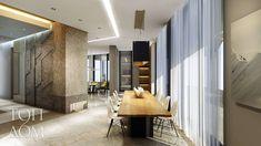 Interior design of modern dining room with the solid wood table / Дизайн интерьера современной столовой со столом из массива дерева #interiordesign #diningroom #interiors #woodworking