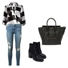 """Untitled #149"" by aandreead ❤ liked on Polyvore featuring River Island, Frame Denim and Zara"