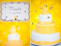 beautiful bee cake I want this for my future baby shower
