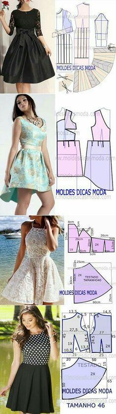 Patrones de vestidos cortos