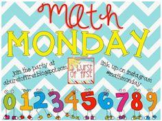 Math Monday Linky {11.18.13} - First Grade Buddies