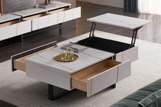 Cool convertible furniture that transforms before your eyes | loveproperty.com Convertible Coffee Table, Convertible Furniture, Condo Living, Living Spaces, Snug Studio, Apartment Furniture, Apartment Ideas, Home Desk, Bed Wall