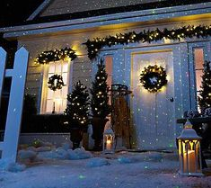 blisslights outdoor indoor firefly light projector of lights projected looks great in trees beautiful christmas lights - Christmas Outdoor Light Projector