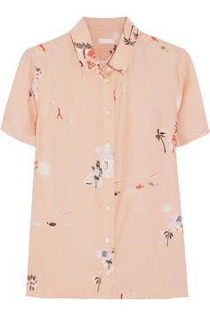 Like the Color, the print is a little empty  J.Crew|Grandpa Hawaiian-print silk shirt|NET-A-PORTER.COM
