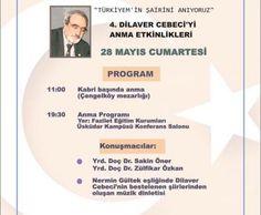 Dilaver Cebeci'yi anma etkinliğine DAVET | Haberhan Siyasi Güncel Haber Sitesi