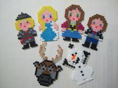 Disney Frozen characters perler beads by Angela Albergo