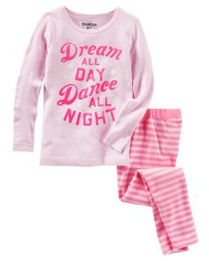 Baby Girl 2-Piece Glow-in-the-Dark Snug Fit Cotton PJs from OshKosh B'gosh. Shop clothing & accessories from a trusted name in kids, toddlers, and baby clothes.