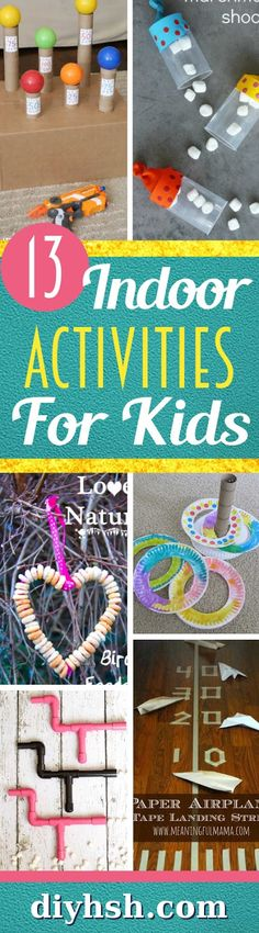 Indoor activities for kids that cost almost nothing.