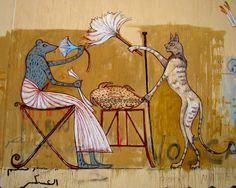 Ala'a Awad links Egyptian Pharaonic art to modern graffiti