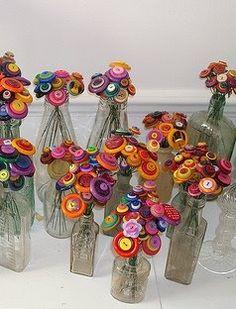 Button Flower Bouquet ~ Adorable