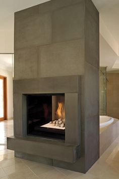 See Through Gas Fireplace Modern Fireplaces