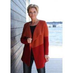 Tofarvet jakke med snipper (53-2012 - opskrift) - Mayflower