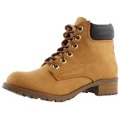 Soda Womens Equity-S Padded Collar Ankle Lace Up Boot -- Hurry! Check out this great item : Boots