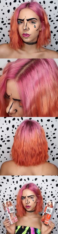 Create your own pop art look for Halloween with L'Oreal Paris Colorista!
