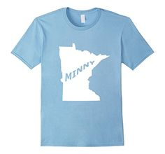 Mens Minnesota Minny T-shirt, Mens, Womens Large Baby Blu...