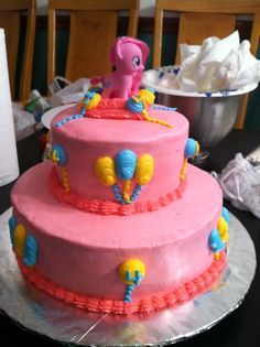 My little pony cake... Chocolate cake with buttercream icing!!!