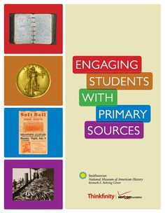 Here's a terrific resource from the Smithsonian on using primary sources in the classroom.