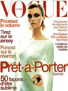 Trish Goff by Satoshi Saikusa on the cover of Vogue Paris August 1996