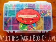 Valentine's Day Candy Tackle Box + Free Printable