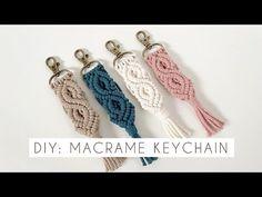 DIY: MACRAME KEYCHAIN TUTORIAL | INTERMEDIATE MACRAME | HOW TO MAKE MACRAME - YouTube Macrame Supplies, Macrame Projects, Macrame Wall Hanging Patterns, Macrame Patterns, Weaving Loom Diy, Diy Keychain, Macrame Design, Micro Macrame, Sisal