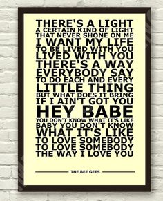 I love the Bee Gees a little more each day