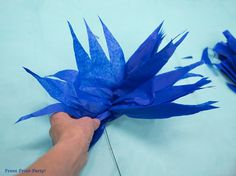 How to Make a Stunning Coral Reef for you Under the Sea Party, Mermaid Party, or VBS. By Press Print Party #OceanCommotion #Underthesea #mermaid Decorations Paper Sea Anemone
