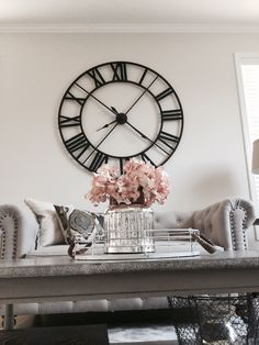 Love this wall clock and she has a great tutorial for the picture   Details   thelilliebag com  decorating ideas  living room decor   Rustic  decor meets. Clocks For Living Room. Home Design Ideas