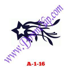 Yıldız Geçici Dövme Şablon Örneği Model No: A-1-16
