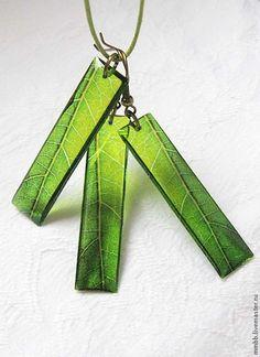 Купить Серьги кулон прозрачные Листок Прямоугольный Тропический Солнце Запад - серьги прозрачные листья