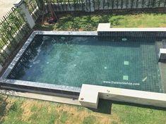 หินธรรมชาติ Silver grey ปูสระว่ายน้ำ size 10x10 cm. www.thaistoneshop.com