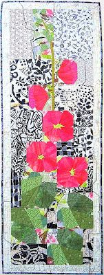 Ruth McDowell -Hollyhocks. Collection of DEL QUILTS