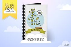 Garden Notes Journal $11.99 Gisele, Blog, Notebook, Notes, Free, Journal, My Love, Garden, Products