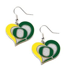 """Officially licensed NCAA earrings! Approximately 7/8"""" in width! Perfect for any sports fan! Show off your team spirit by wearing these earrings loud and proud!"""