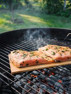 Cedar Grilled Salmon with Mango Salsa Recipe - The Effortless Chic