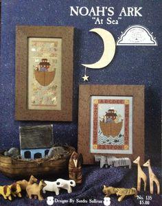 Noah's Ark At Sea Cross Stitch by Lonestarblondie on Etsy