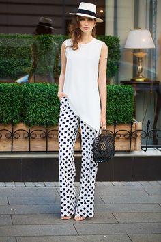 Look Fashion, White Fashion, Girl Fashion, Fashion Dresses, Womens Fashion, Jazz Pants, Looks Street Style, Diy Dress, Elegant Outfit
