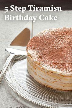 MilleCrepe Tiramisu Birthday Cake Recipe Tiramisu Birthday