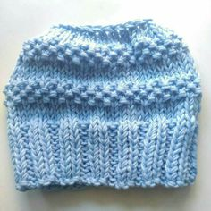 Excited to share the latest addition to my #etsy shop: Messy bun beanie. Knit beanie. Wool beanie. Mom life beanie. Ponytail beanie. Messy bun hat. Bun hat knitted. Light blue beanie #accessories #hat #blue #bunhatknitted #messybunhat #bunhat #ponytailhat #messybunbeanie #beetheblacksheep #handmade #handmadewithcare http://etsy.me/2hz3fBy