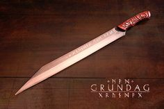 Grundag- Viking Long Seax forged by David DelaGardelle  steel type: 1085 high carbon Handle wood: aged Walnut
