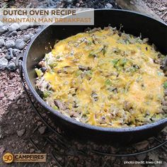 All in one breakfast in a dutch oven. Let's Camp!