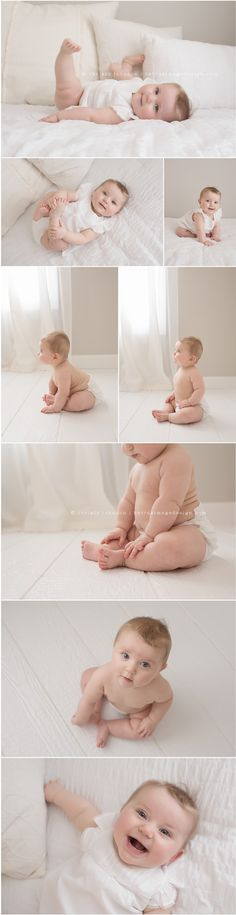 Lillie in White | Six Month Photos | Be True Image Design
