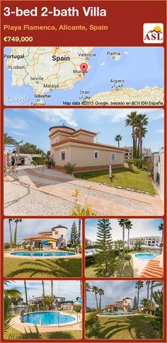 3-bed 2-bath Villa in Playa Flamenca, Alicante, Spain ►€749,000 #PropertyForSaleInSpain