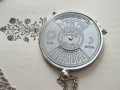 1 Spinning Calendar Necklace Nautical Turn by PeculiarCollective