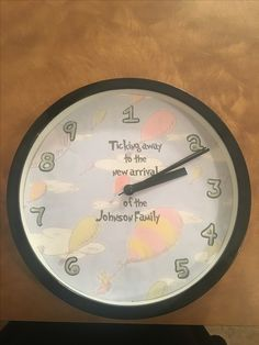 Dr. Seuss baby announcement clock!! Oh the places you will go background. 9 month clock.