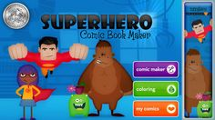 Superhero Comic Book Maker - a great iOS app for creating a digital comic ideal for storytelling