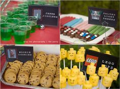 A Galactic party. A Star Wars Adventure. i love the Lego heads! Star Wars Party Food, Star Wars Food, Star Wars Cake, Lego Star Wars, Happy 4th Birthday, 6th Birthday Parties, Boy Birthday, Birthday Ideas, Themed Parties