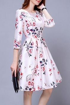 Hannou - Alberta Dress in Multicolor