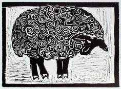 Woodcut Art, Linocut Prints, Baa Baa Black Sheep, Sheep Crafts, Sheep Art, Art Students, Organic Art, Block Prints, Lambs