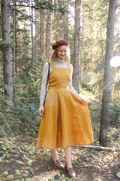 Marigold dress for autumn. Source by windowseatview dress outfit Dress Outfits, Fall Outfits, Casual Dresses, Dress Up, Girls Dresses, Fashion Outfits, Pinafore Dress Outfit, Marigold Dress, 1940s Fashion