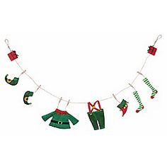 Debenhams - Elf Laundry Garland